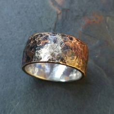"""Bronze and silver """"Unearthed"""" ring"""