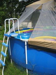 Sunnytent poolabdeckung l 5 40m piscines plage et jardins for Aufstellbare schwimmbecken
