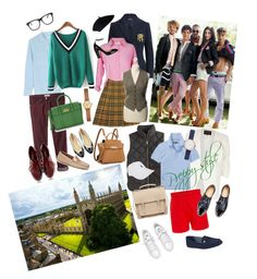 """preppy style"" by nika-baronovskaya on Polyvore featuring Equipment, J.Crew, Ralph Lauren, Polo Ralph Lauren, River Island, Tommy Hilfiger, Wood Wood, Velvet by Graham & Spencer, Burberry and Pieces"