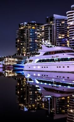 Yacht Night Marina Urban Life - Explore the World with Travel Nerd Nici, one Country at a Time. http://TravelNerdNici.com