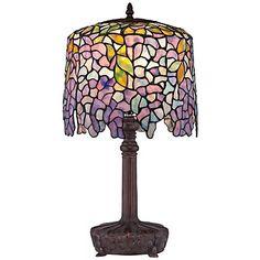 Quoizel Wisteria Purple Glass Table Lamp