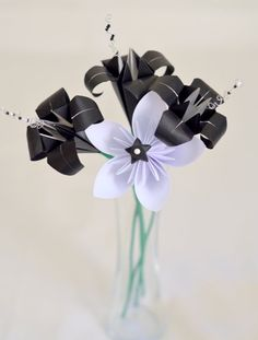Handmade Paper Flower Bouquet Origami Lilies by bouquetsbyselena, $29.00