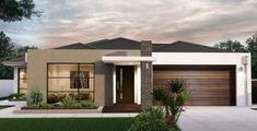 New House Ideas House facade design entrance courtyards Best Ideas Brand name clothing online de Modern House Facades, Modern Bungalow House, Contemporary House Plans, Modern House Plans, House Front Design, Modern House Design, Facade Design, Exterior Design, Style At Home