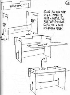 bureau en carton - http://statler.ws/NomadicDesk2.gif