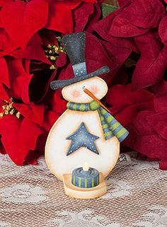 snowman tole paintings free   Snowman Tealight Holder by Cyndi Combs - Decorative Painting Patterns ...