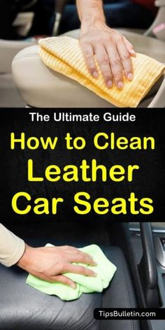 Discover the ultimate guide on how to clean leather car seats with homemade solutions using common products. Find out the best way to remove stains from a vehicle's interiors with these awesome tips and tricks. Clean you auto's leather upholstery quickly. Deep Cleaning Tips, House Cleaning Tips, Car Cleaning, Cleaning Solutions, Cleaning Hacks, Cleaning Products, Spring Cleaning, Clean Leather Seats, Cleaning Leather Car Seats