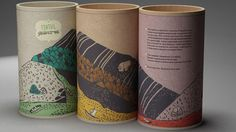 Tea Canisters, the same mountain scene printed on all of them, so they can combine to make one scene