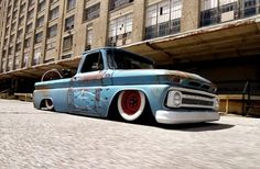 A Rough, Custom Built And Bagged 1965 Chevy C10 Pickup - RodAuthority.com