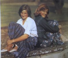 Lady Diana Spencer and her older sister, Lady Jane Spencer