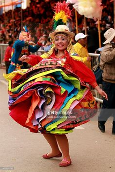 Dancers performing  during Carnival in Oruro