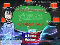 A review of the US friendly $50 No Deposit Americas Cardroom Poker Bonus. Only a hand full of states is excluded so almost any us poker player who does not already have an account on Americas Cardroom can now apply for a $50 no deposit poker bonus on americas cardroom