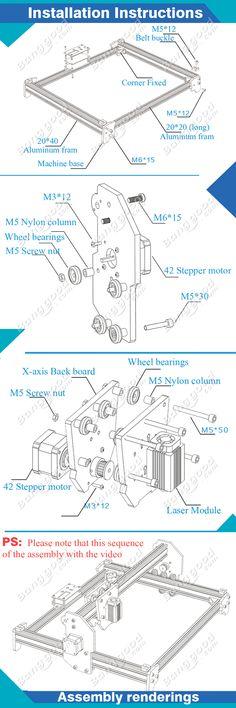 5500mw A3 30x40cm bureau image violette bricolage de graveur laser kits d'assemblage de l'imprimante CNC