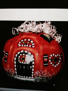 Painted gourd by Gail Beckwith