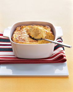 Cheddar-Corn Spoon Bread.  Could this be anything like the spoon bread at Don Pablo's?