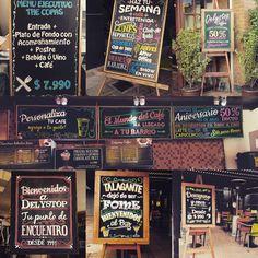 Pizarras para restaurante, cafetería y bar