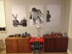 For the playroom. DIY WALL DECOR : Take a picture of your child's favourite toys, convert picture to black and white, and then have it blown up. Diy Lego, Engineer Prints, Decoration Bedroom, Wall Decorations, Kids Decor, Home Decor, Kid Spaces, My New Room, Diy Home