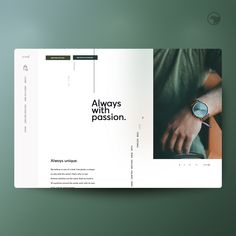 A concept for a made-up company where every single watch is created unique by watchmakers around the world. We really wish this was real. We wanted to experiment with a minimalist hand-crafted feel, that felt modern and timeless. Minimalist Web Design, Minimalist Layout, Modern Web Design, Graphic Design, News Web Design, Web Design Projects, Lookbook Design, Presentation Layout, Affinity Designer
