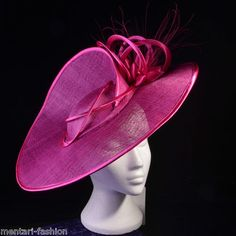 Mentari Hats Large Eligant Disc Fascinator Hat Perfect for Race or Wedding Day £89.98
