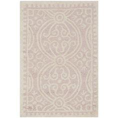 "Safavieh Cambridge Handmade Geometric Light-Pink/Ivory Wool Rug (2'6"" x 4') - Overstock™ Shopping - Great Deals on Safavieh Accent Rugs"