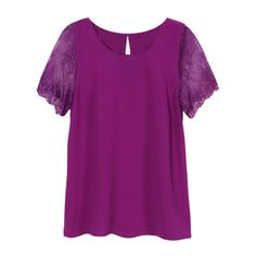 Love to have this this top in bright color, no navy or black please! Love the detailed sleeves 41 Hawthorn McQue Solid Lace Sleeve Blouse
