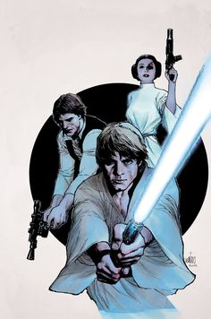 Star Wars - Leinil Yu (Luke Skywalker, Princess Leia Organa and Han Solo)