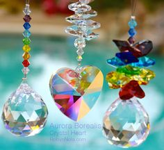Beautiful crystal sun catchers