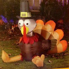 Inflatable Thanksgiving Pilgrim Turkey Yard Art for sale online Thanksgiving Celebration, Thanksgiving Parties, Thanksgiving Table, Thanksgiving Inflatables, Best Bird Feeders, Indestructable Dog Bed, Giant Inflatable, Art For Sale Online, Dog Crate