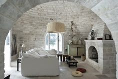 villa rental in Apulia (Puglia), Italy, called Trullo Angelo. typical, conical style of house in this region of Italy