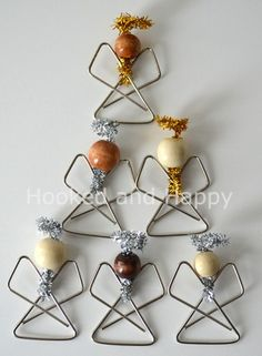 Paper Clip Angels. This easy craft would be a great advent activity. You could make a whole choir of angels. - Karen