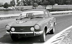 Fiat 850 Sport Coupe: Bathurst on borrowed tyres, a sandwich, a Coke and 8000 rpm! Fiat 850, Fiat Cars, Rally Car, Coke, Touring, Race Cars, Motorcycles, Racing, Classic