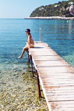 .Sittin' on the dock ..