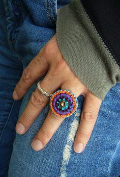 ••• Häkelring ••• von crochet.jewels auf DaWanda.com