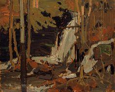 Tom Thomson Catalogue Raisonné | The Waterfall, Spring 1916 (1916.32) | Catalogue entry