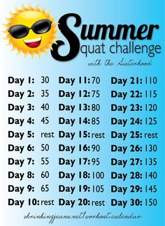 Are you ready to get sweaty this month? Your rear will be SIZZLIN' at the end of this 30-Day Squat Challenge! Print out the Summer Squat Challenge calendar, hang it on your fridge, and get busy squatting! Complete the daily totals and your core, legs, and butt will be looking (more) fabulous by mid-summer! The …