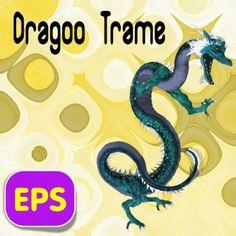Dragoo Trame Eastern Dragon .eps vector