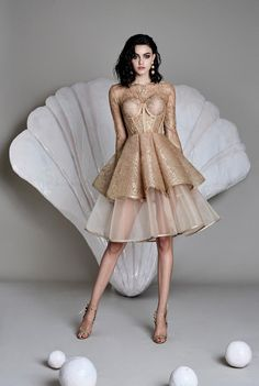 Cristina Savulescu is a self-trained Romanian fashion designer. Party Fashion, High Fashion, Short Dresses, Prom Dresses, Moda Boho, Dress Picture, Beautiful Gowns, Dream Dress, Couture Fashion