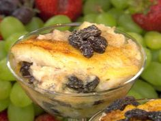 - -Baked Rice Pudding- 1 cup cooked rice 2 1/2 cups milk 3 large eggs, lightly beaten 3/4 cup sugar 3/4 cup raisins 1 teaspoon vanilla extract 1/4 teaspoon salt 1/2 teaspoon ground cinnamon 1/4 teaspoon ground nutmeg  Read more at: http://www.foodnetwork.com/recipes/paula-deen/baked-rice-pudding-recipe2.html?oc=linkback *3 eggs is too many for my taste buds. The pudding had an egg taste to it. Also tasted salty. Omit salt!