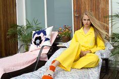 Icelandic Design, home decor, organic, sustainable, textile Hipster Girls, Cotton Pyjamas, Textiles, Cozy, Yellow, Iceland, Design, Inspiration, Ice Land