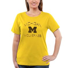 Michigan Wolverines Women's Fade To Victory T-Shirt – Maize - $18.99