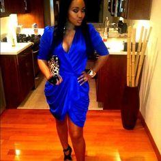 Wrap dress Beautiful blue wrap dress. Worn once. ASOS Dresses Asymmetrical