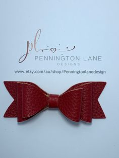 Red Leather Hairbow on Alligator Clip Hairbows, Red Leather, Trending Outfits, Unique Jewelry, Handmade Gifts, Etsy, Fashion, Kid Craft Gifts, Moda
