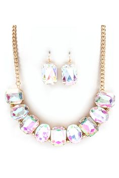 Taylor Necklace Set in Iridescence