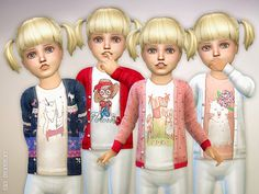 The Sims Resource: Cardigan for Toddler Girls P01 by lillka • Sims 4 Downloads