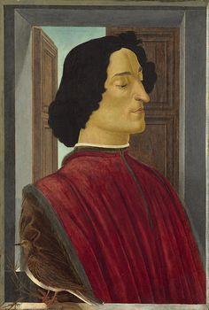 """Sandro Botticelli """"Portrait of Giuliano de' Medici"""", wood, x cm. National Gallery of Art, Washington. Photo: National Gallery of Art, Washington Painter, Early Renaissance Painting, Portraiture, Culture Art, Botticelli, Sandro Botticelli, National Gallery Of Art, Portrait, Stretched Canvas Prints"""