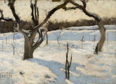 Józef #Czajkowski, Sad w zimie, 1900, wł. Muzeum Narodowe w Krakowi // Orchard in winter, owned by the National Museum in Krakow