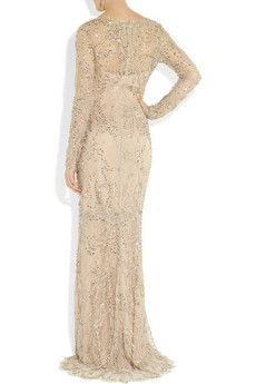 Marchesa - embellished lace gown