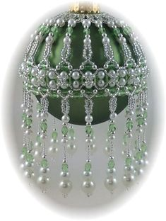 veiled Beauty Ornament Cover Pattern | beaded Christmas tree ornam ...