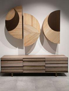 Wooden Wall Decor, Wooden Art, Wooden Walls, Wood Wall Art, Wooden Wall Design, Unique Furniture, Furniture Design, Deco Spa, Interior Decorating