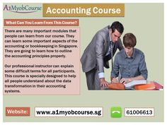 There are many vital segments that people can learn from our accounting course in Singapore