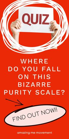 Take this ridiculous and bizarre test to find out where you fall on the purity scale. I failed!! Haha!! quiz posts|quizzes|fun quizzes|personality tests|playbuzz quizzes|buzzfeed quizzes|quizzes for fun|quiz questions and answers|personality quizzes|quizzes about yourself